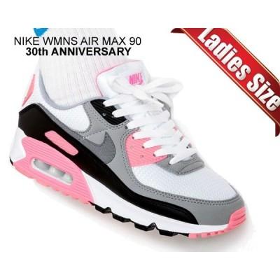 ナイキ ウィメンズ エアマックス 90 NIKE WMNS AIR MAX 90 30th ANNIVERSARY white/particle grey-rose-black スニーカー レディース ガールズ AM90 ピンク