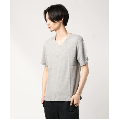 tシャツ Tシャツ 吸汗速乾抗菌防臭ワッフルサーマルVネックTシャツ