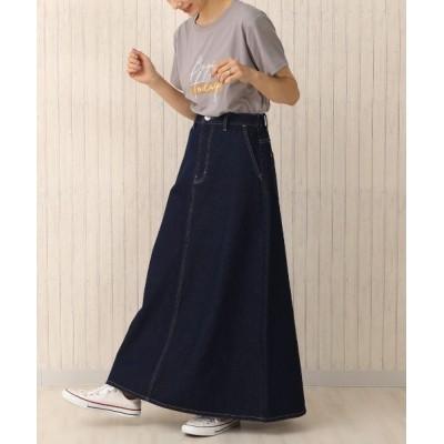 perky room / (nod)デニムフレアロングスカート WOMEN スカート > デニムスカート