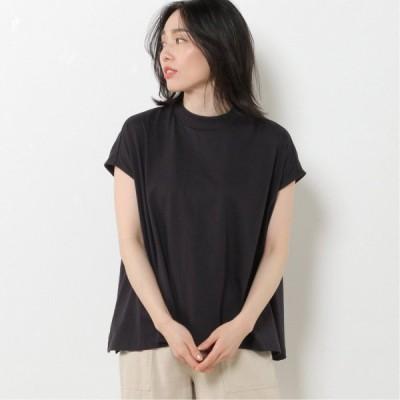 フレンチスリーブワイドTシャツ ネイビー M L