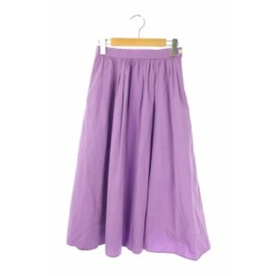 【中古】イエナ スローブ IENA SLOBE 18SS スカート ギャザー フレア ロング 36 紫 /AA レディース