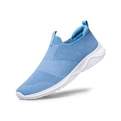 [Raoendis] ウォーキングシューズ レディース スニーカー - ランニングシューズ 運動靴 超軽量 通気(ブルー 23.5 cm 3E)