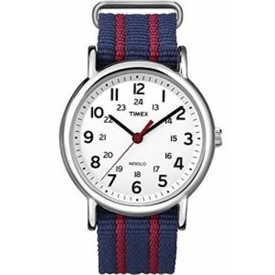[タイメックス]TIMEX ウィークエンダー セントラルパーク ホワイト×ネイビー/レッド T2N747 【並行輸入品】