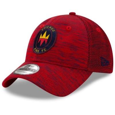 ユニセックス スポーツリーグ サッカー Chicago Fire New Era On-Field Collection 9TWENTY Adjustable Hat - Red - OSFA 帽子