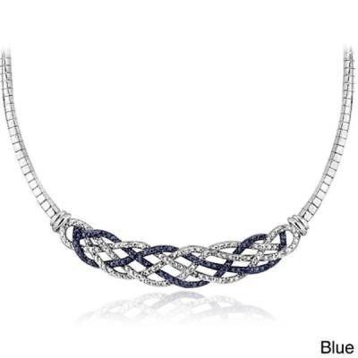 ダイヤモンド ディービーデザイン DB Designs Silvertone 1/4ct TDW Black or Blue and White Diamond Weave Frontal