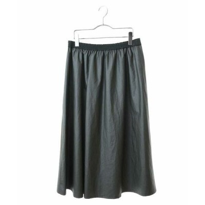 HIROKO BIS GRANDE / ヒロコビス グランデ 【洗える】ラミネート加工フレアスカート