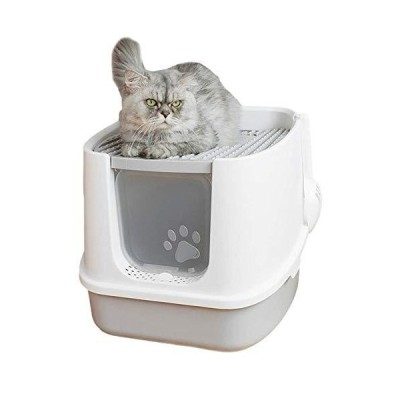 猫用トイレ本体 猫用トイレ ネコトイレ 脱臭抗菌 スペース広い 掃除簡単 砂の飛び散り防止 軽量 コンパクト 大