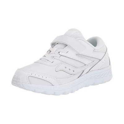Saucony unisex child Cohesion 13 Alternative Closure Sneaker, White, Wide B