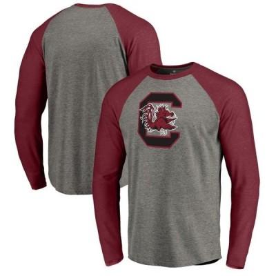 ユニセックス スポーツリーグ アメリカ大学スポーツ South Carolina Gamecocks Fanatics Branded Primary Logo Long Sleeve Tri-Blend