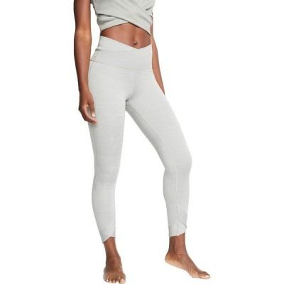 ナイキ カジュアルパンツ ボトムス レディース Nike Women's Yoga Wrap 7/8 Tights ParticleGrey