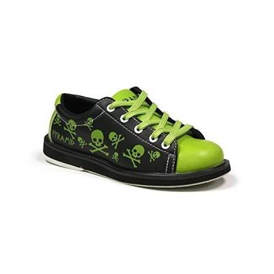 Pyramid ユース スカル 頭蓋骨 グリーン/ブラック ボーリングシューズ 靴 1 Youth M US グリーン