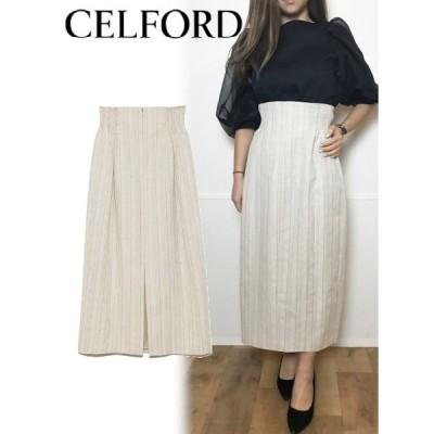60%OFF CELFORD  セルフォード ハイウエストタイトスカート  20春夏 CWFS201064 タイトスカート