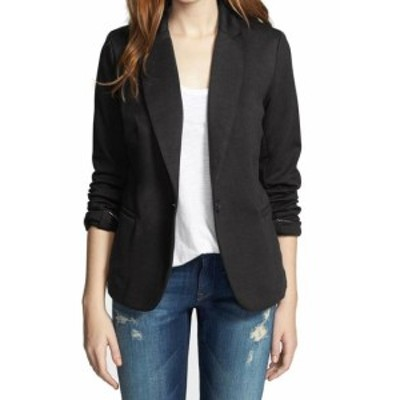 Blazer ブレザー ファッション 衣類 Olivia Moon Womens Jacket Black Size XL Single Button Ponte Knit Blazer
