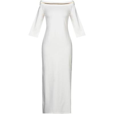 リュー ジョー LIU •JO 7分丈ワンピース・ドレス アイボリー S コットン 95% / ポリウレタン 5% 7分丈ワンピース・ドレス