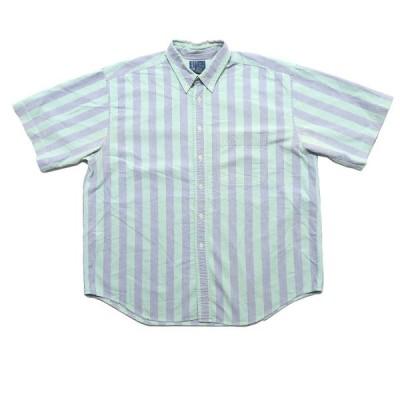 デザイン ストライプ 半袖シャツ サイズ表記:XL