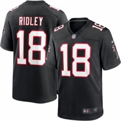 ナイキ Nike メンズ トップス Atlanta Falcons Calvin Ridley #18 Black Game Jersey