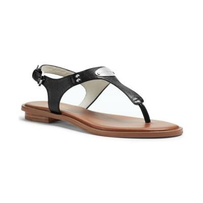 マイケルコース サンダル シューズ レディース MK Plate Flat Thong Sandals Black