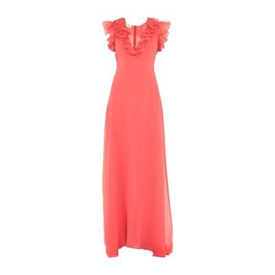 ジャンバティスタ ヴァリ GIAMBATTISTA VALLI ロングワンピース&ドレス コーラル 40 シルク 100% ロングワンピース&ドレス