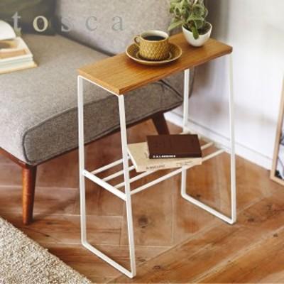 【限定クーポンあり】サイドテーブル 北欧 白 スリム ソファサイドテーブル トスカ ホワイト