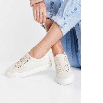 トップショップ レディース スニーカー シューズ Topshop Camden lace up sneakers in taupe Taupe