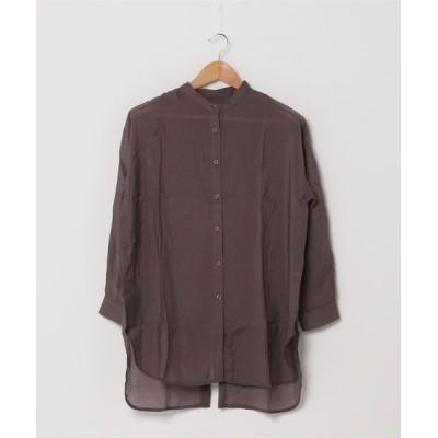 JUGLANS / シアーポプリン バックスリットシャツ WOMEN トップス > シャツ/ブラウス