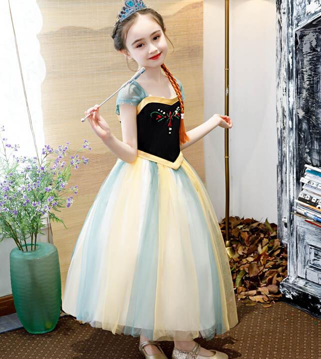 買就送皇冠配件辮子萬聖節 安公主 奇緣莎公主 公主 兒童禮服