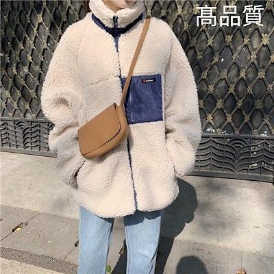 今季トレンド💛ボアブルゾン ボア コート/ボアブルゾン/ルアスンウールパッチジップアップ/、暖か、モコモコし過ぎず、スッキリ/韓国ファッション/プ