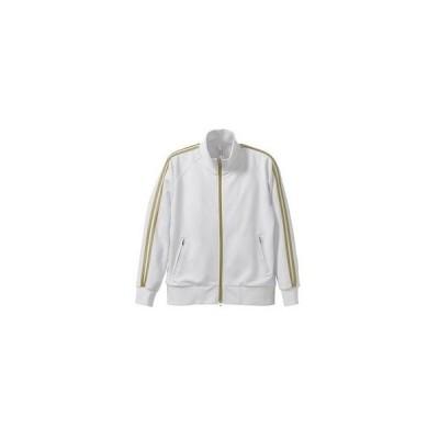 ライン入りジャージ ラグランスリーブジャケット CB1995 ホワイト/ゴールド XL