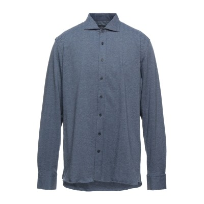 ハケット HACKETT シャツ ダークブルー XL コットン 100% シャツ