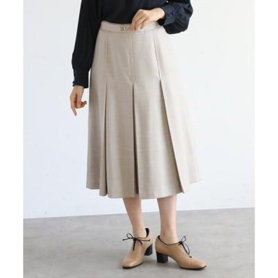 スカート 【SS-L】プリーツ ビット付きスカート