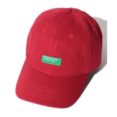 (BENETTON (women)/ベネトン レディース)ベネトンボックスロゴキャップ・帽子/レディース レッド