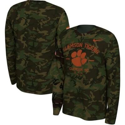 ユニセックス スポーツリーグ アメリカ大学スポーツ Clemson Tigers Nike 2019 Veterans Day Legend Long Sleeve T-Shirt - Camo