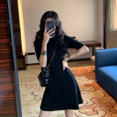 ワンピース Aライン 安い 可愛い ドレス ワンピ ミニ デート 食事会 ディナー 大人可愛い Tシャツ ミニワンピ