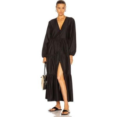 マトー Matteau レディース ワンピース ワンピース・ドレス Long Sleeve Button Dress Black