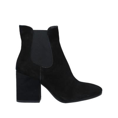 LORETTA PETTINARI ショートブーツ ブラック 37 革 / 伸縮繊維 ショートブーツ