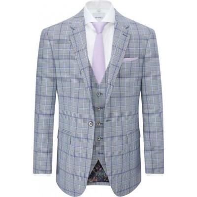 スコープス Skopes メンズ スーツ・ジャケット アウター Stark Check Suit Jacket Grey