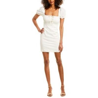アストラット レディース ワンピース トップス ASTR the Label Nina Linen-Blend Dress off white