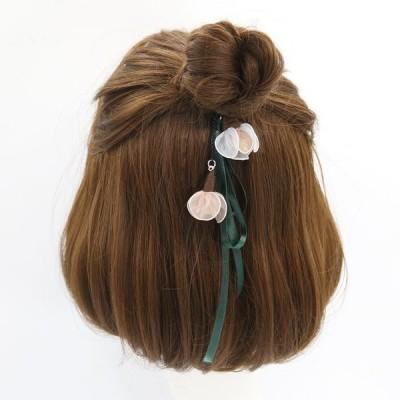 ヘアゴム ヘアアクセサリー レディース まとめ髪 リボン フラワー 花 かわいい 可愛い オシャレ ファッション 雑貨