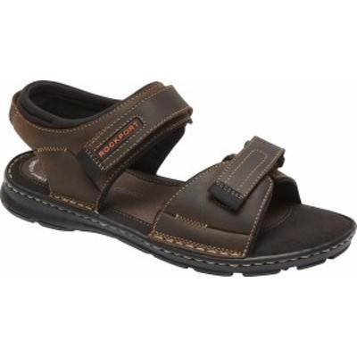 ロックポート メンズ サンダル シューズ Men's Rockport Darwyn Quarter Strap Sandal Brown II Leather
