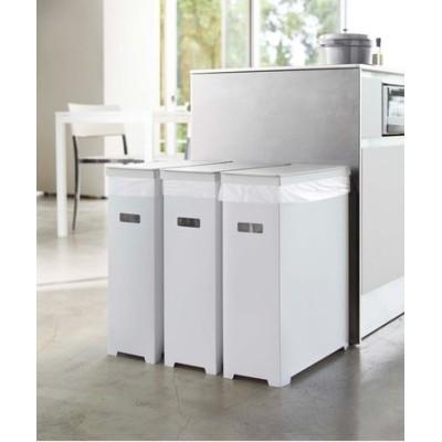 tower(タワー)スリム蓋器付きゴミ箱  3個組 ホワイト