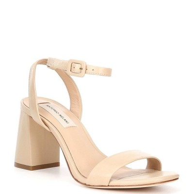 アントニオメラニー レディース サンダル シューズ Gwyn Square Toe Leather Ankle Strap Dress Sandals Bespoked Nude