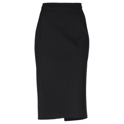 CARACTÈRE 7分丈スカート ブラック 40 ナイロン 86% / ポリウレタン 14% 7分丈スカート