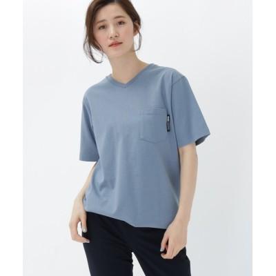 BASESTATION / 【WEB限定】半袖 ヘビーウェイトポケットTシャツ Vネック WOMEN トップス > Tシャツ/カットソー
