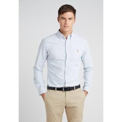 ラルフローレン シャツ メンズ トップス SLIM FIT - Shirt - blue/white