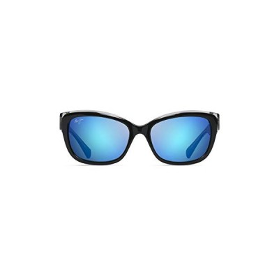 Maui Jim B768-02K 02K Black/Crystal Plumeria Cats Eyes Sunglasses Polarised L 並行輸入品