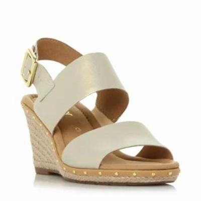 ガボール サンダル・ミュール Anna 2 Stud Detail Wedged Sandals gold