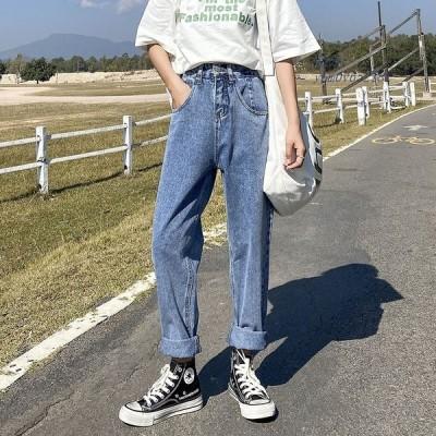 デニムパンツ 体型カバー テーパード ジーンズ ズボン レディース ボトムス 20代30代40代 サルエルパンツ ジーパン 着痩せ オシャレ 美脚 カジュア