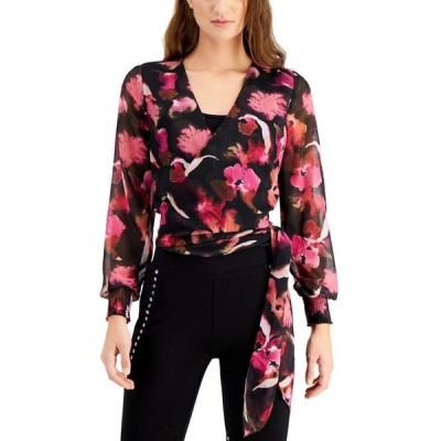 バースリー レディース シャツ トップス Floral-Print Wrap Top