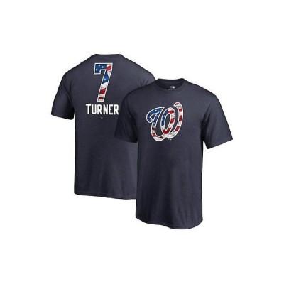 野球 MLB ファナティクス ブランド Fanatics Branded Trea Turner Washington Nationals Youth Navy 2018 Stars &