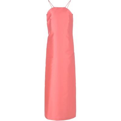 KATIA GIANNINI ロングワンピース&ドレス ピンク 42 ポリエステル 85% / シルク 15% ロングワンピース&ドレス